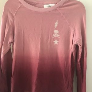 SoulCycle pink ombré sweatshirt Size S